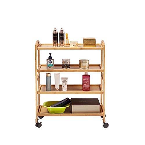 DJY-JY Estante de almacenamiento móvil para herramientas de madera, para salón de belleza (tamaño 60 x 32 x 81 cm)