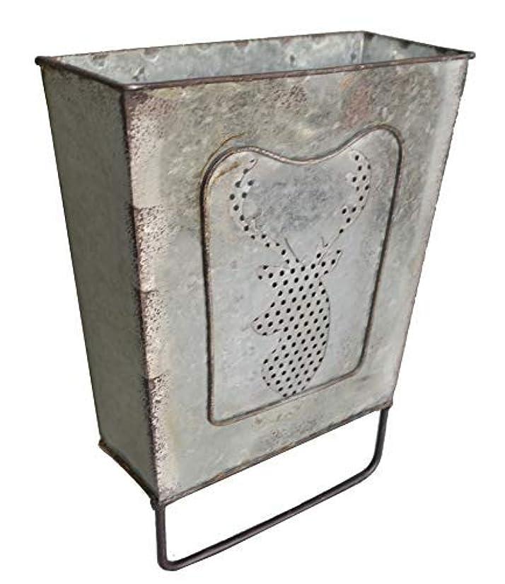 かりて先例組み合わせShabbyDecor 亜鉛メッキメタル壁オーガナイザー タオルバー付き