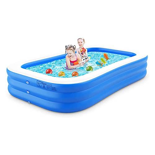 Piscina gonfiabile 300 X 179 X 50 cm piscina family gonfiabile profonda per adulti, bambini, neonati, piscina fuori terra per feste estive in acqua nel cortile all'aperto