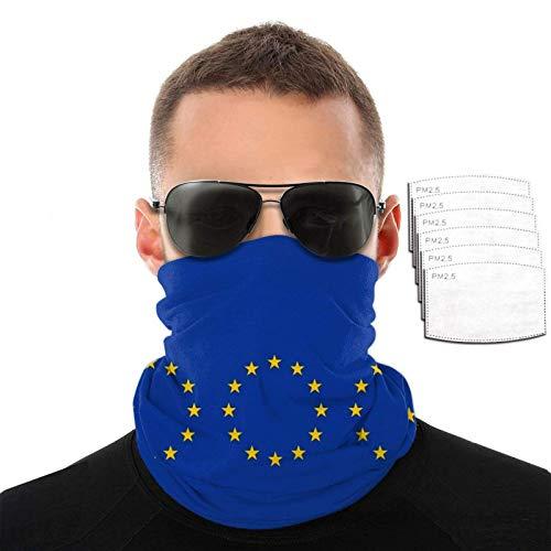 Banderas abstractas sin costuras de la Unión Europea para hombre y mujer, bufanda, cuello, cara, pasamontañas, bandana multifuncional para ciclismo, correr, escalada, senderismo