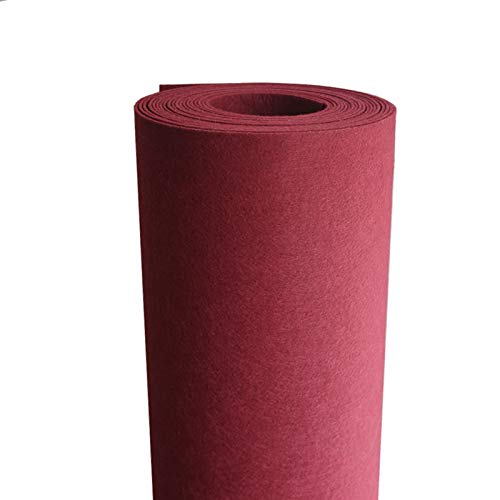 XIAOZHEN Hojas de Fieltro Fieltro para Manualidades por Metros 100cm de Ancho 2mm de Grosor para Costura y Artesanías de Bricolaje(Color:Vino Rojo)