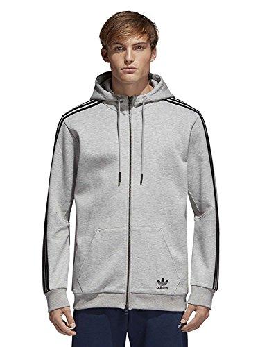 adidas Herren Curated Jacke, Medium Grey Heather, XL