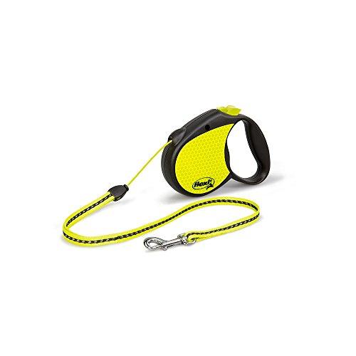 flexi Roll-Leine Neon Reflect S Seil 5 m Neon/schwarz für Hunde bis max. 12 kg