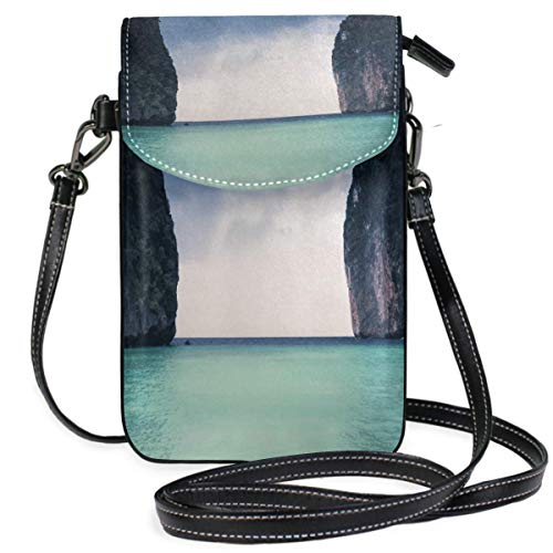 XCNGG bolso del teléfono Small Crossbody Coin Purse Blue Sky OceanPhonepurse for Women Bags Leather Multicolor smart phone Bags Purse With Removable Strap
