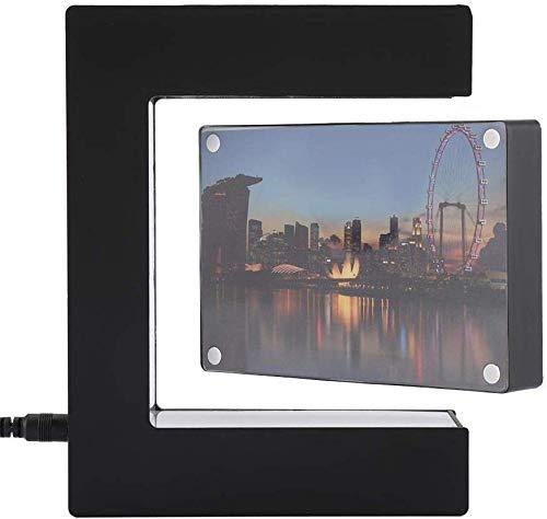 WYZXR Levitación Magnética Anti Gravedad Suspender 360 & deg; Marco de Fotos Flotante Giratorio con luz LED para la decoración de la Oficina en el hogar - Negro