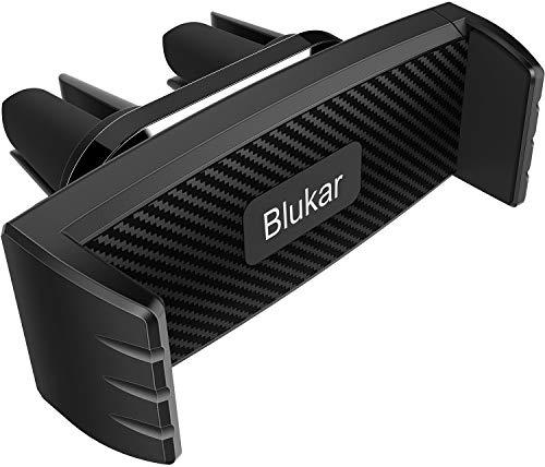 Blukar Support Téléphone Voiture, Support à Grille d'aération Support Ventilation Rotation 360° avec 2 Clips pour Smartphones et GPS 4.7-6.5 Pouces