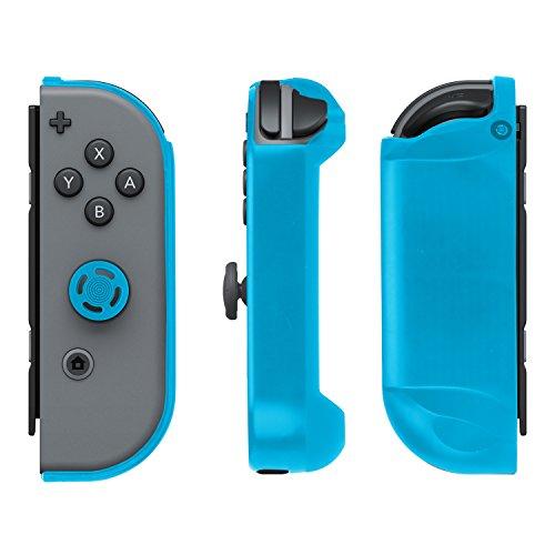 PDP Gaming Ergonomic Comfort Grip Joy Con Gel Guards 2 Pack: Blue, Black - Nintendo Switch