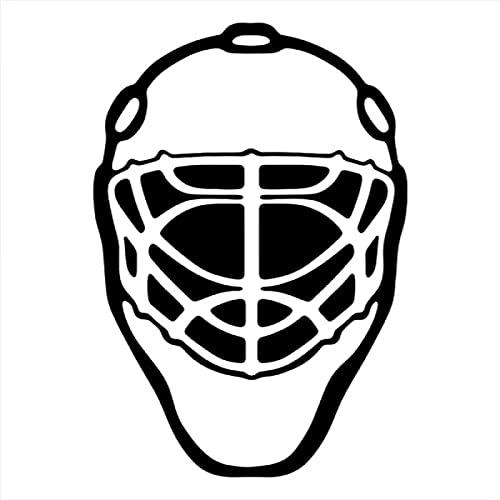NCOBG 18x13cm Eishockey Sport Liebhaber Helm Mann Junge Aufkleber Auto Fenster Glas Körper Dekoration Aufkleber Front Windschutzscheibe (Color : Black)