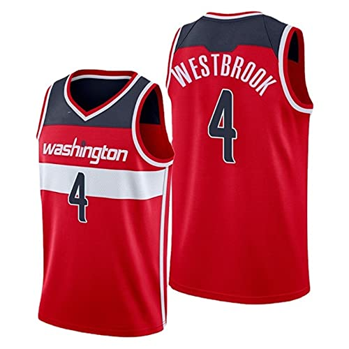 YXST Camiseta de Baloncesto NBA Magos # 4 Malla Bordada de PoliéSter Top,Secado RáPido Y Transpirable Camisetas de Verano,RéPlica de Jugador de Baloncesto,Red,M