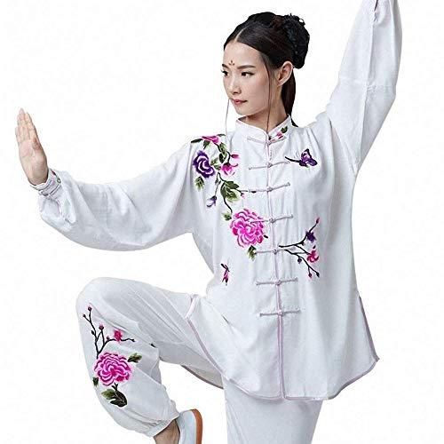 Traje De Tai Chi para Mujer Traje De Algodón Bordado Y Seda Chino Tradicional Shaolin Kung Fu...