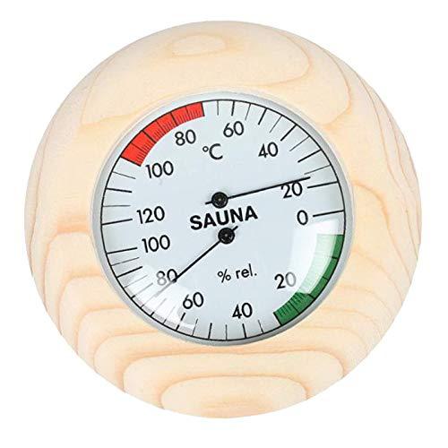 Tubayia Sauna Holz Thermometer Hygrometer Saunaraum Luftfeuchtigkeit Temperatur Messgerät Saunazubehör