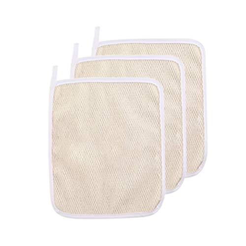 3 Pack Exfoliating Nylon Terry Cloth Soft-Weave Wash Cloths Massage Bath Cloth for Women and Man Skin Care, Shower Scrubber, Remove Dead Skin, Beauty Skin Home Massage Bath Cloth
