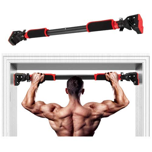 HARDYROAR Pull Up Bar - Safe Locking Home Doorway Chin Up Bar - No Screw Installation, Upper Body Workout, 29.5 to 37.5 Inches Adjustable Width
