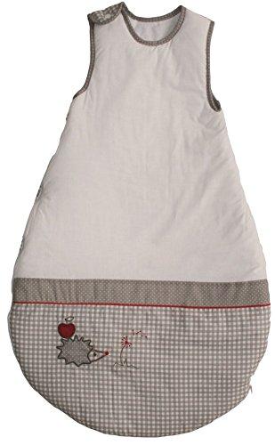 roba roba Schlafsack, 90cm, Babyschlafsack ganzjahres/ganzjährig, aus atmungsaktiver Baumwolle, Baby- und Kleinkindschlafsack unisex, Kollektion 'Adam & Eule'