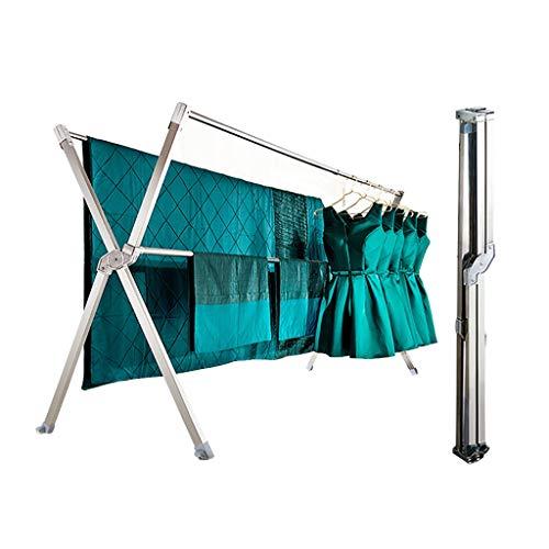 Tendedero Ropa Plegable Tenderete Ropa Vertical Balcon/Marco De Metal Plegable (Color :...
