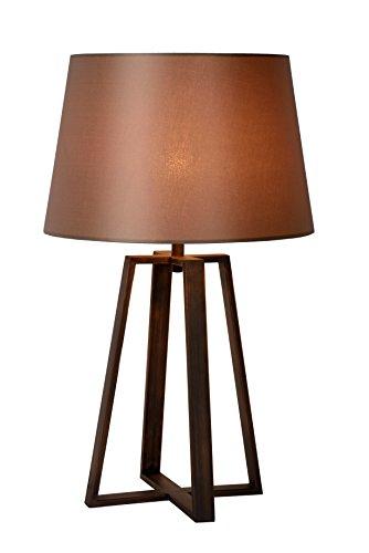 Lucide COFFEE - Lampe De Table - Ø 38,5 cm - Brun