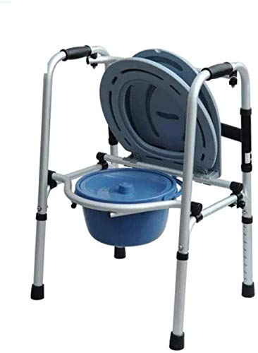 Rollatoren ommode stoel toiletstoel van aluminium in hoogte verstelbare douchestoel voor badkamer wc kruk lichtgewicht rollator opvouwbaar