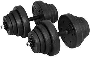 SONGMICS Halters, korte halters, set van 2, voor mannen en vrouwen, fitness, gewichtheffen voor thuis, sportschool,...