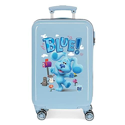 Blue´s Clues and You Maleta de Cabina Azul 34x55x20 cms Rígida ABS Cierre de combinación Lateral 32 2 kgs 4 Ruedas Dobles Equipaje de Mano