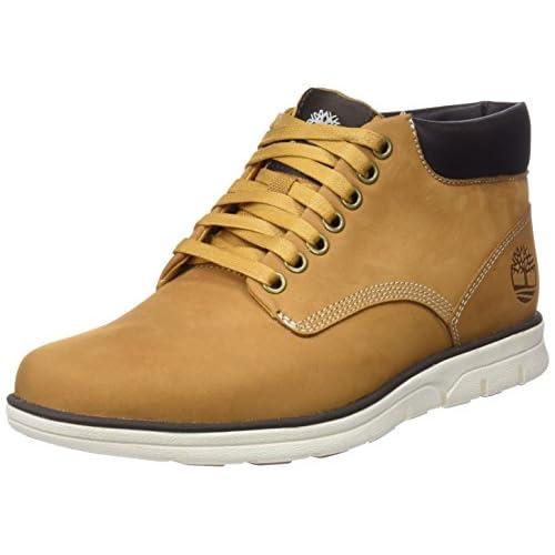 Timberland Bradstreet Chukka Leather, Stivali Uomo, Pelle, Materiale suola: Gomma, Larghezza scarpa: medium, Giallo (Wheat Nubuck), 43 EU