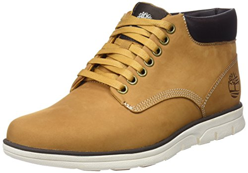 Timberland Bradstreet Chukka Leather, Stivali Uomo, Pelle, Materiale suola: Gomma, Larghezza scarpa: medium, Giallo (Wheat Nubuck), 41 EU