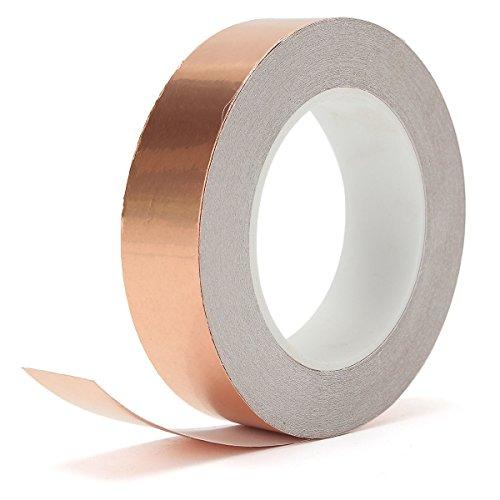 Caxmtu, Kupferfolien-Klebeband, leitfähig, für Glasmalerei / Lötarbeiten / elektrische Reparaturen, EMI-Abschirmung, 20 m