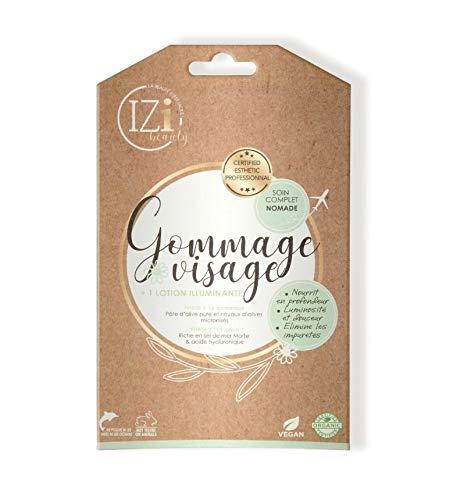 Gommage Visage + 1 Lotion Illuminante Vegan Izy Beauty nomade et vegan qualité institut SPA beauté