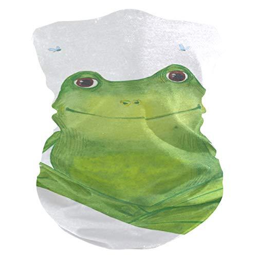 Stoff-Gesichtsmaske für Damen, multifunktional, Bandanas, Schnittmuster, unisex, grüner Frosch, Stoffmaske, Muster, bedruckbar, für Herren und Damen, Kopfbedeckung, Kopftuch, waschbar, Innentasche