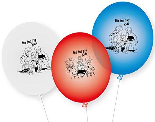 DH-Konzept DREI ??? Kids Ballons 9 Stück // Detektivparty DREI Fragezeichen