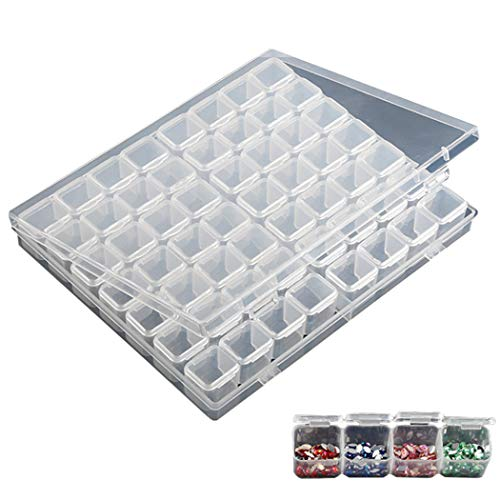 Fanspack Nail Art Container Clear Bead Storage Box Nail Case de Rangement Bijoux Boîte de Rangement