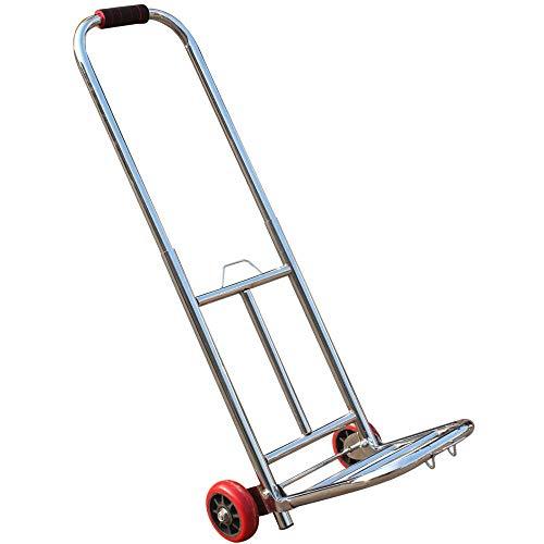 MIZE Rostfreier Stahl Einkaufswagen mit Treppensteigerfunktion Faltbar Leichtgängige Räder mit Soft-Laufflächen und bis 60 kg,Silber Einkaufskorb Rollen für Travel Sports Gym Camping Weekender