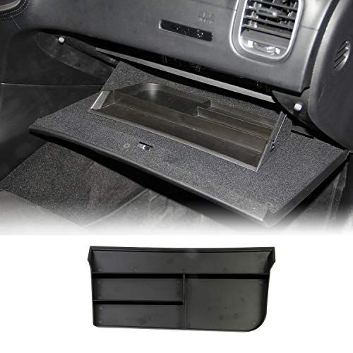 Voodonala for Charger Center Console Armrest Storage Glove Box Organize Tray for 2015-2020 Dodge Charger ABS Black 1pc
