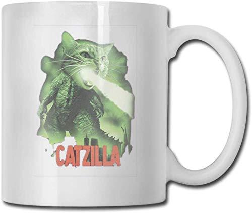 Cat-Zilla - Taza de té con texto en inglés 'Best Gift Idea'