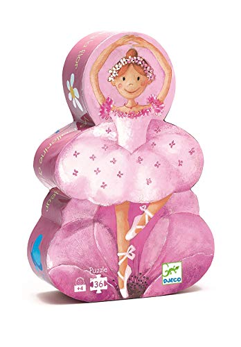 Djeco- Rompecabezas La Bailarina con la Flor, Multicolor (DJ07227)