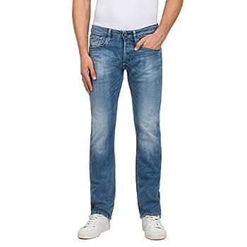 Replay Herren Newbill Straight Jeans Blau
