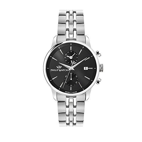 PHILIP WATCH Orologio Cronografo Quarzo Uomo con Cinturino in Acciaio Inox R8273650002
