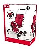BRIO - 24905000 - Poussette 'Sitty' Rouge - Jeu d'imitation - Poussette pour poupée - Réglable, pliable et robuste - Pour filles et garcons à partir de 3 ans