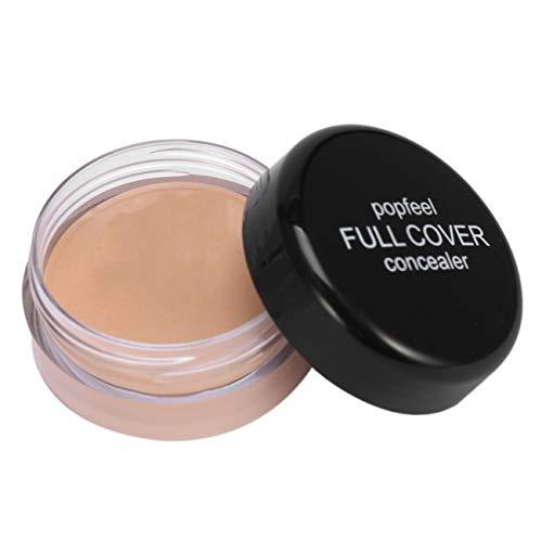 POPFEEL Professinal Base Foundation Make-up Gesichts Concealer Creme Langlebige feuchtigkeitsspendende Abdeckung Poren Concealer (FOC 1)