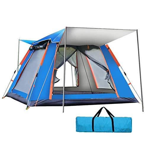 QYY Tienda emergente 4 Personas Tienda de campaña instantánea Mochila Camping Tienda Familiar Domo Montaje Rápido Tienda de Campaña al Aire Libre