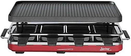 Spring 3267513001EU–raclette8avec grill en fonte d'aluminium rouge (H. Nr.)