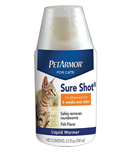 PetArmor Sure Shot Liquid Wormer for Cats, 100ml