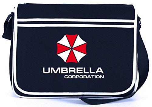 Shirtstreet24, Umbrella Corporation, Retro Messenger Bag Kuriertasche Umhängetasche, Größe: onesize,Navy