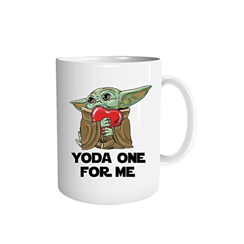 Yo-da one-for me-hugs heart valentin's day costume gift for him her Mug Cup Coffee Mugs Cups Tea (White-15 oz)