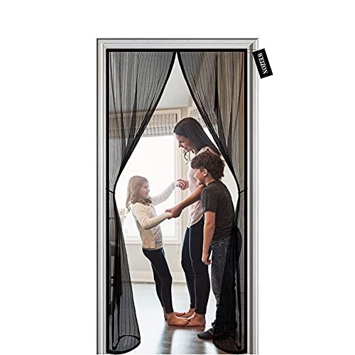 Cortina Mosquitera Para Puertas 170 x 215 cm Mosquitera para Puertas,Automáticamente Plegable,insectos...