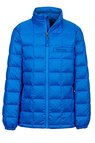 Marmot Boys' Ajax Down Puffer Jacket, Fill Power 600, Cobalt Blue