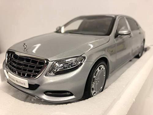 Almost Real 820103 - Mercedes Benz S-Class Maybach 2016 Iridium Silver - Escala 1/18 - Vehiculo en Miniatura - diecast