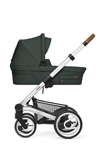 Mutsy Nio Adventure Kinderwagen/Buggy/ 2 in 1/Kombi/Set pine green- Silber Gestell grün
