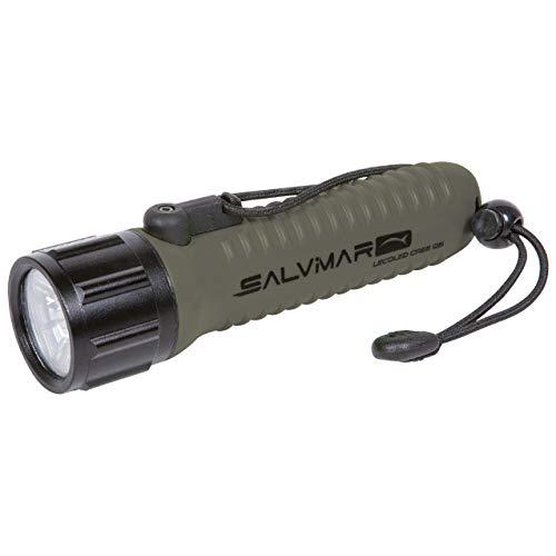 SALVIMAR Lecoled - Linterna Sumergible Unisex para Adultos, Verde Militar, única