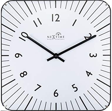 NeXtime Wall Watches Metal and Plastic Popular product 35 cm Ø Limited time sale White