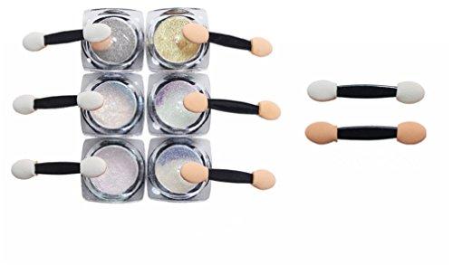 Pure Vie® Lot de 6 1g Couleur Glittery Paillettes UV Gel Vernis à Ongles Décoration Manucure #1